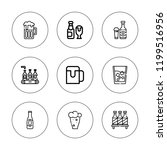 pint icon set. collection of 9... | Shutterstock .eps vector #1199516956