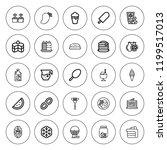 delicious icon set. collection...   Shutterstock .eps vector #1199517013