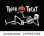 Trick Or Treat Resting Skeleton ...