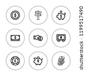 wealth icon set. collection of... | Shutterstock .eps vector #1199517490