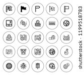 continent icon set. collection...   Shutterstock .eps vector #1199518783
