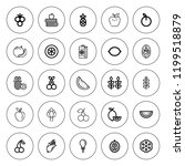 ripe icon set. collection of 25 ... | Shutterstock .eps vector #1199518879