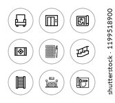 floor icon set. collection of 9 ... | Shutterstock .eps vector #1199518900