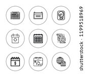 reminder icon set. collection... | Shutterstock .eps vector #1199518969