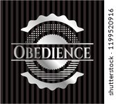 obedience silvery badge or... | Shutterstock .eps vector #1199520916