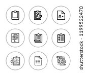 questionnaire icon set.... | Shutterstock .eps vector #1199522470