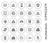 cookie icon set. collection of... | Shutterstock .eps vector #1199522479