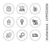 newborn icon set. collection of ... | Shutterstock .eps vector #1199522656