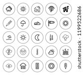 climate icon set. collection of ... | Shutterstock .eps vector #1199522686