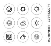 glare icon set. collection of 9 ... | Shutterstock .eps vector #1199522749