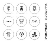 flora icon set. collection of 9 ... | Shutterstock .eps vector #1199523946