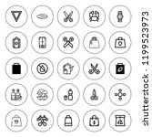 simplicity icon set. collection ... | Shutterstock .eps vector #1199523973