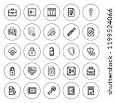 lock icon set. collection of 25 ... | Shutterstock .eps vector #1199524066