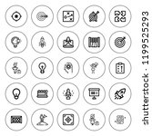 solution icon set. collection... | Shutterstock .eps vector #1199525293