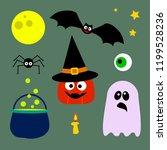 halloween elements collection....   Shutterstock .eps vector #1199528236