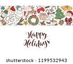 hand drawn merry christmas... | Shutterstock .eps vector #1199532943