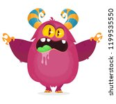 angry cartoon monster character.... | Shutterstock .eps vector #1199535550