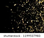 gold shining confetti flying on ... | Shutterstock .eps vector #1199537983