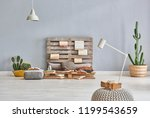 wooden pallet decor and many... | Shutterstock . vector #1199543659