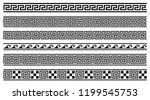 vector set of 6 greek style... | Shutterstock .eps vector #1199545753