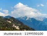 a vaduz castle from... | Shutterstock . vector #1199550100