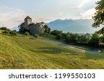 a vaduz castle from... | Shutterstock . vector #1199550103