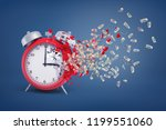 3d rendering of a large red... | Shutterstock . vector #1199551060