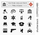 vector high quality set of 16... | Shutterstock .eps vector #1199551480