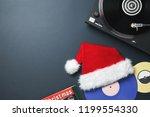 christmas greeting card. vinyl... | Shutterstock . vector #1199554330