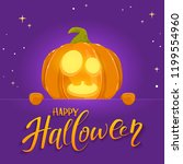 jack o lantern with smile and... | Shutterstock . vector #1199554960