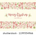 merry christmas and happy new... | Shutterstock . vector #1199554966