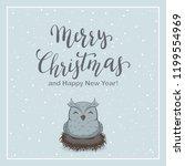 lettering merry christmas on... | Shutterstock . vector #1199554969