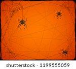 orange halloween background... | Shutterstock . vector #1199555059
