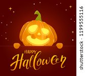 jack o lantern with smile and... | Shutterstock . vector #1199555116