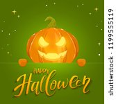 jack o lantern with smile and... | Shutterstock . vector #1199555119