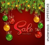 holiday background with... | Shutterstock . vector #1199555143