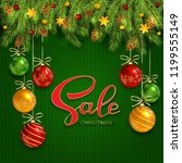 holiday background with... | Shutterstock . vector #1199555149