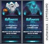 vector illustration halloween... | Shutterstock .eps vector #1199556490