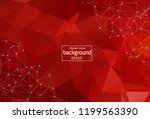 abstract red polygonal space... | Shutterstock .eps vector #1199563390