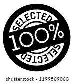 100 percent selected stamp on... | Shutterstock .eps vector #1199569060