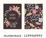 vector hand drawn season's... | Shutterstock .eps vector #1199569993