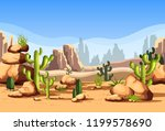 canyon scenery with rocks and... | Shutterstock .eps vector #1199578690