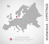 map of european union with the... | Shutterstock .eps vector #1199579626