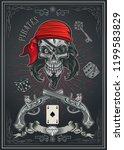 jolly roger pirate skull   Shutterstock .eps vector #1199583829