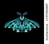 night moth in ethnic style.... | Shutterstock .eps vector #1199583889