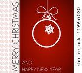red christmas frame with border ... | Shutterstock .eps vector #119959030