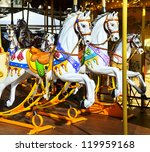 traditional carousel with...   Shutterstock . vector #119959168