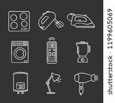 household appliance chalk icons ... | Shutterstock .eps vector #1199605069