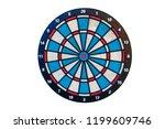 target darts on white... | Shutterstock . vector #1199609746