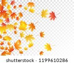 maple leaves vector  autumn... | Shutterstock .eps vector #1199610286